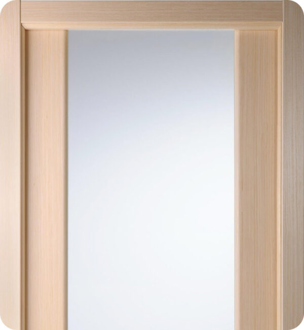 Arazzinni Grand 202 Interior Door in a Bleached Oak Finish with Frosted Glass 1