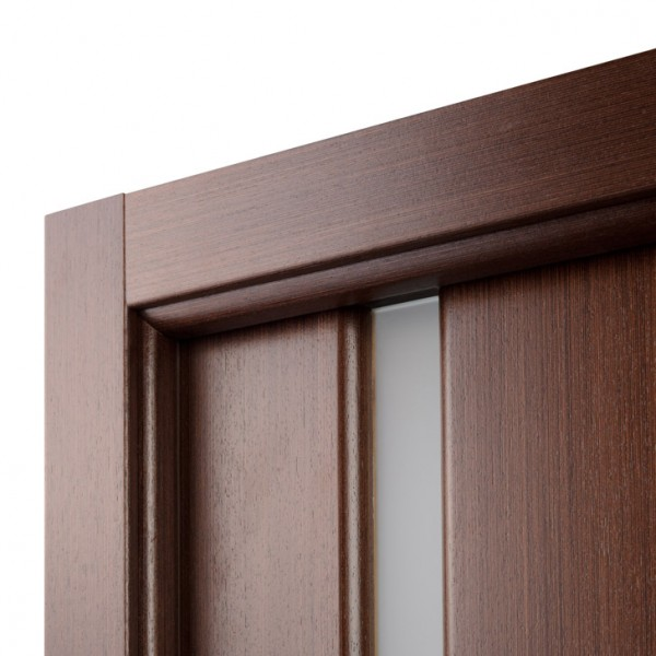 Arazzinni Grand 208 Interior Door in a Wenge Finish with Frosted Glass Strip 1