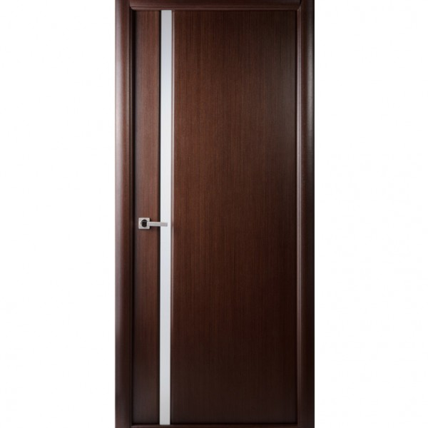 Arazzinni Grand 208 Interior Door in a Wenge Finish with Frosted Glass Strip