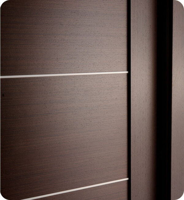 Arazzinni Maximum 201 Interior Door in a Wenge Finish with Aluminum Strips 2