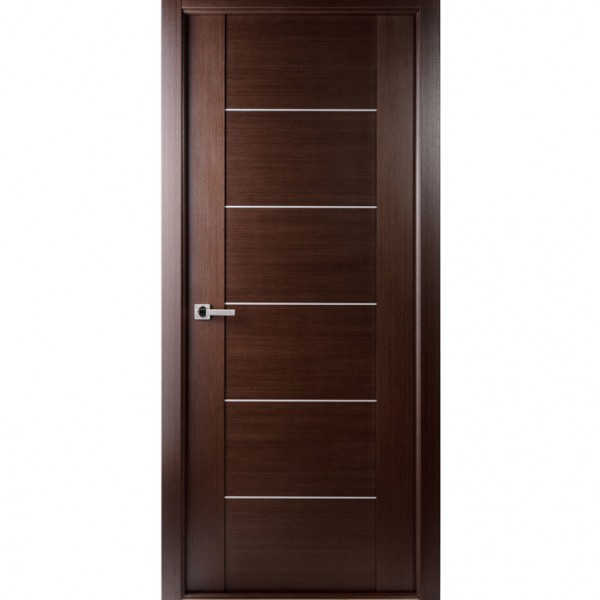 Arazzinni Maximum 201 Interior Door in a Wenge Finish with Aluminum Strips