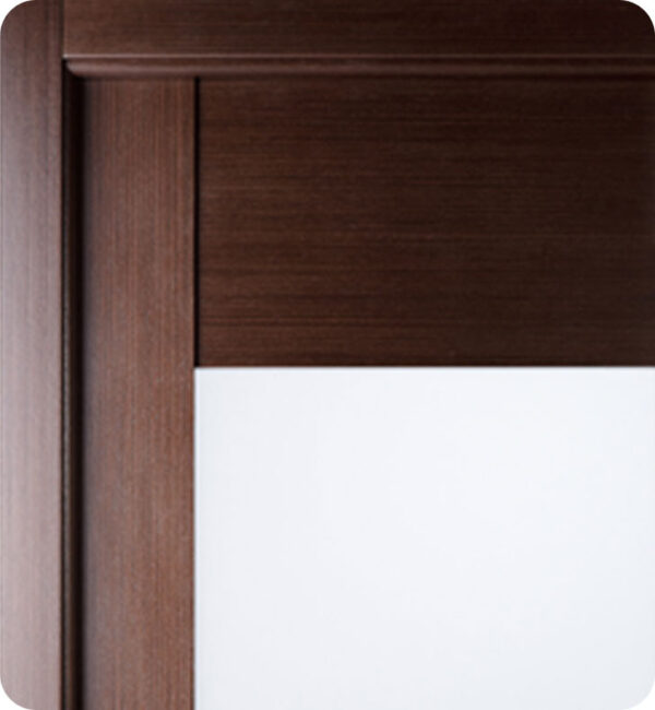 Arazzinni Maximum 204 Interior Door in a Wenge Finish with Frosted Glass Panels 2