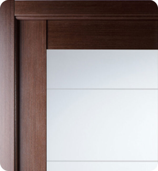 Arazzinni Maximum 209 Interior Door in a Wenge Finish with Frosted Glass 1