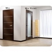Arazzinni Mia Interior Door in a Wenge Finish with Silver Strips 1