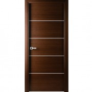 Arazzinni Mia Interior Door in a Wenge Finish with Silver Strips