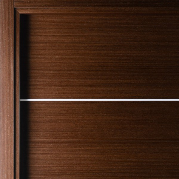 Aries A101door Wenge Stainless Steel Strip Aries Interior Doors