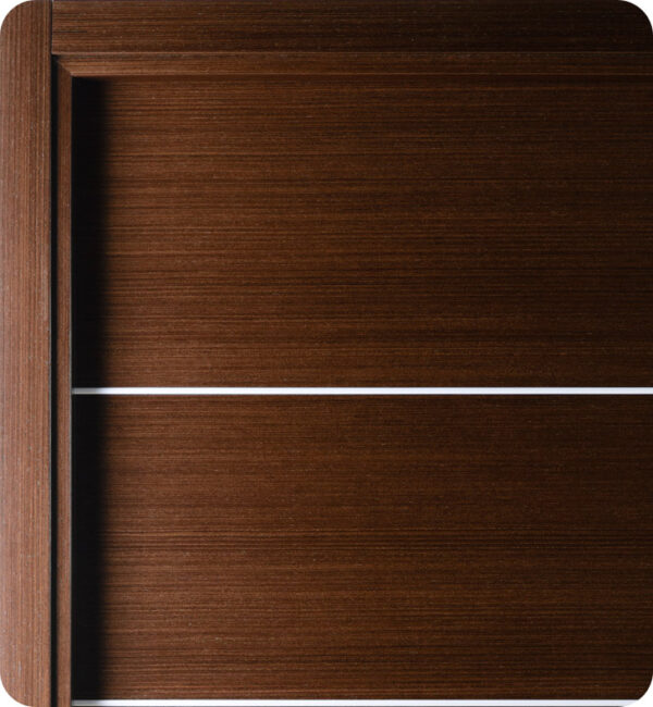 Arazzinni Mia Interior Door in a Wenge Finish with Silver Strips 4