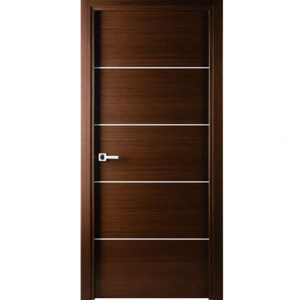 Arazzinni Mia Interior Door in a Wenge Finish with Silver Strips  sc 1 st  Aries Interior Doors & Aries A101Door Wenge Stainless Steel Strip - Aries Interior Doors