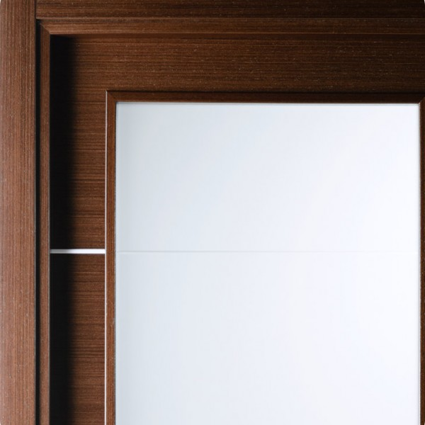 Arazzinni Mia Vetro Interior Door in a Wenge Finish with Silver Strips and Frosted Glass 8 & Aries Mia AG101 Interior Door in a Wenge Finish with Frosted Glass ... pezcame.com