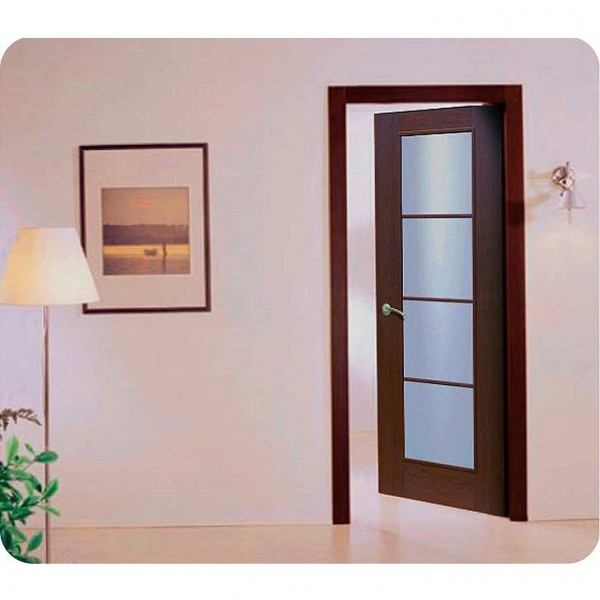 Aries Mia Ag103 Interior Door In A Wenge Finish With Frosted Glass Aries Interior Doors