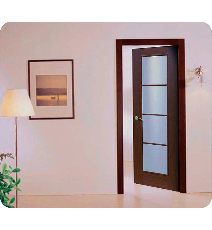 Aries Mia AG103 Interior Door in a Wenge Finish with Frosted Glass - Aries Interior Doors