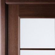 Arazzinni Modern Lux Interior Door in a Wenge Finish with Frosted Glass 2