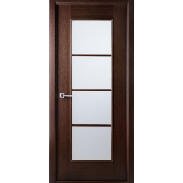Aries mia ag103 interior door in a wenge finish with - Contemporary glass doors interior ...