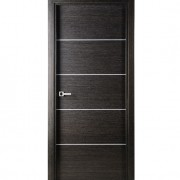 Aries Mia AG111 Interior Door Black Apricot Finish Silver Strips