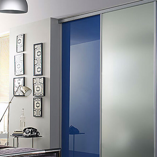 Plexi Glass Doors : Aries closet door blue and silver csd acrylic