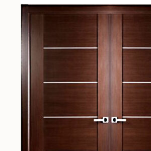 Aries interior double door with glass panels 1 1 2 mdf thermofoil veneer color cherry aries - Finished white interior doors ...