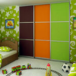 Aries-Closet-Door-Orange,-Green-and-Brown-CSD-22