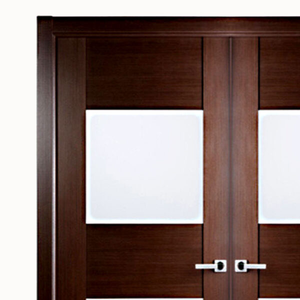 Aries–Interior-Double-Door-in-a-Wenge-Finish-with–Glass-Panels-1