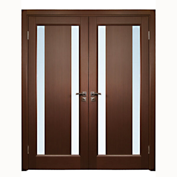 Ariesu2013Interior-Double-Door-in-a-Wenge-Finish- & Aries Interior Double Door in a Wenge Finish with Glass Strip (1 1/2 ...