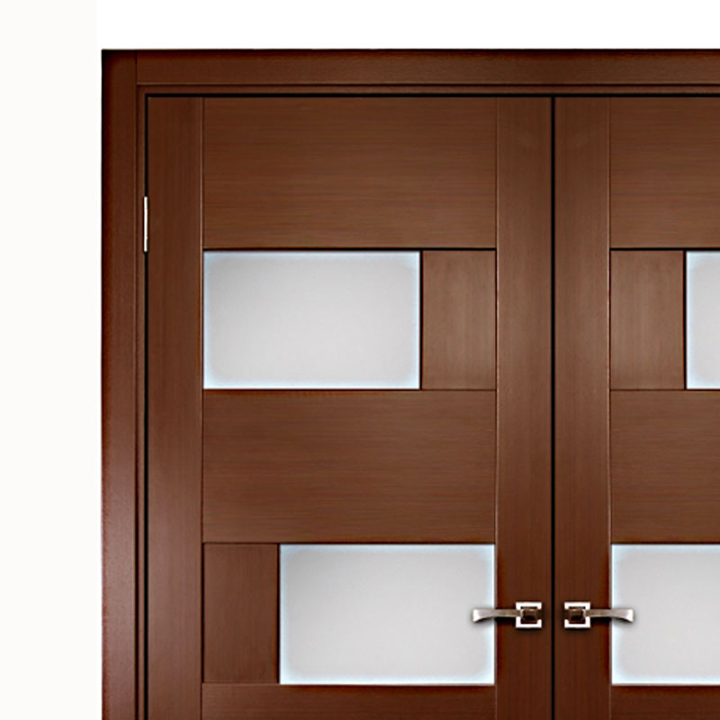 Aries Interior Double Door With Glass Panels 1 12 Mdf Thermofoil