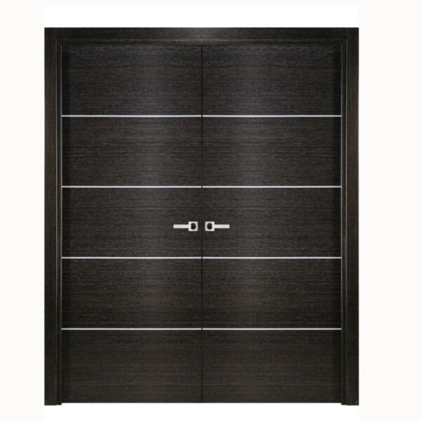 Aries-Mia–Interior-Double-Door-in-a-Black-Apricot-Finish-with-Silver-Strips
