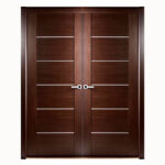 Aries-Mia–Interior-double-Door-in-a-Wenge-Finish-with-Stainless-Steel-Strip