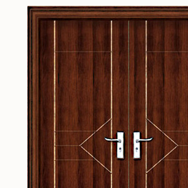 Aries mia modern interior double door in a wenge semi for Wood veneer interior doors