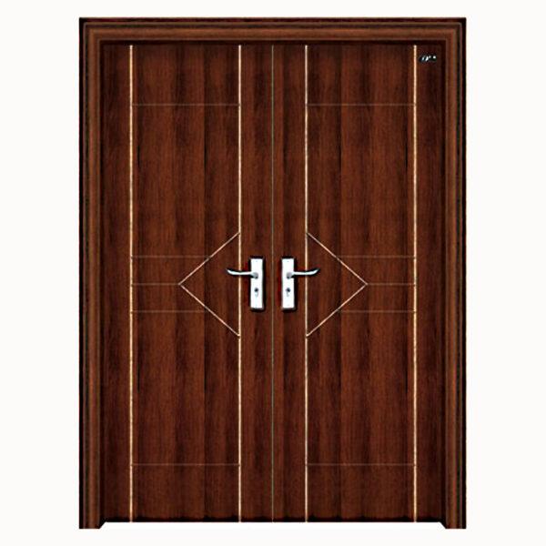 Aries Mia Modern Interior Double Door In A Wenge Semi Solid And
