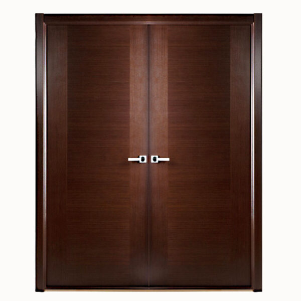 Aries Modern Interior Double Door Semi Solid Wood And