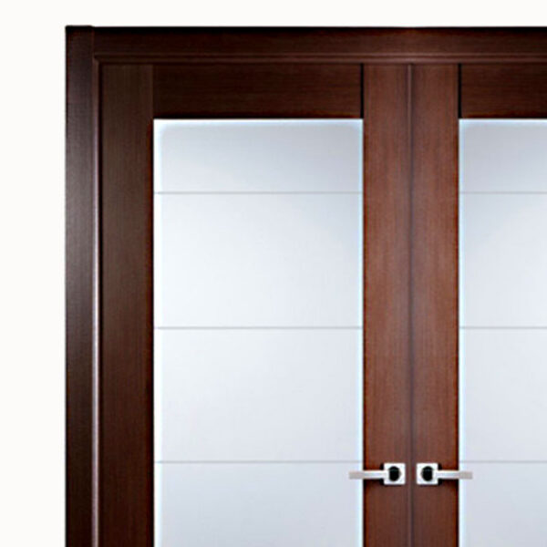 Ariesu2013Modern Interior Double Door With Glass Panels