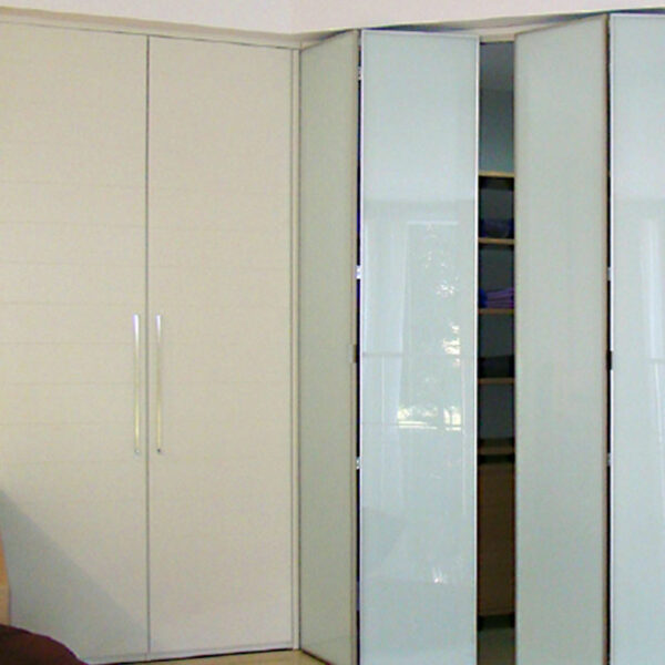 Aries Bi Fold Cream Closet Door 004 Glass Aries Interior Doors