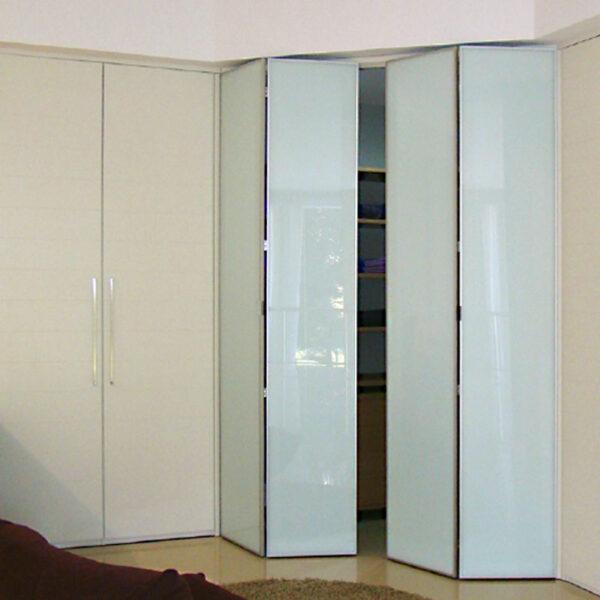 Aries Bi Fold Cream Closet Door 004 Glass Aries Interior Doors