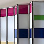Aries bi – fold multicolor closet door 001 1