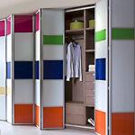 Aries bi – fold multicolor closet door 001