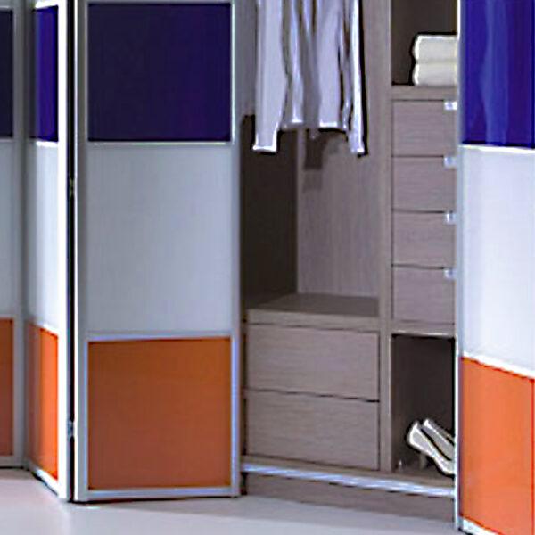 Aries bi – fold multicolor closet door 002