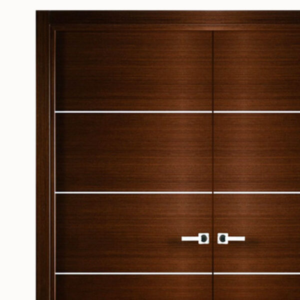 Aries-Mia-Interior-Double-Door-Brown–with-Silver-Strips-1