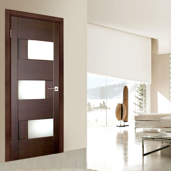 Aries Modern Interior Door With Glass Panels Aries
