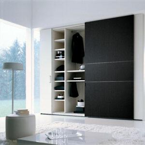 Aries Closet Door Black CSD 57 Acrylic Mdf