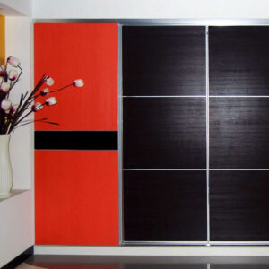 Aries Closet Door Black Red CSD 51 Acrylic Mdf
