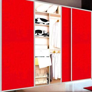 Aries Closet Door Red CSD 52 Acrylic / Mdf