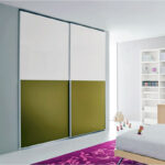 Aries Closet Door White Green CSD 54 Acrylic Mdf