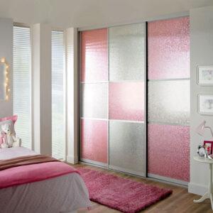 Aries Closet Door White Pink CSD 59 Acrylic Mdf