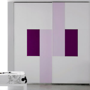 Aries Closet Door White Purple CSD 58 Acrylic Mdf