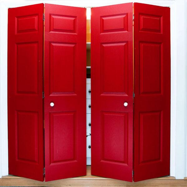 Aries Bi Fold Red Closet Door 015