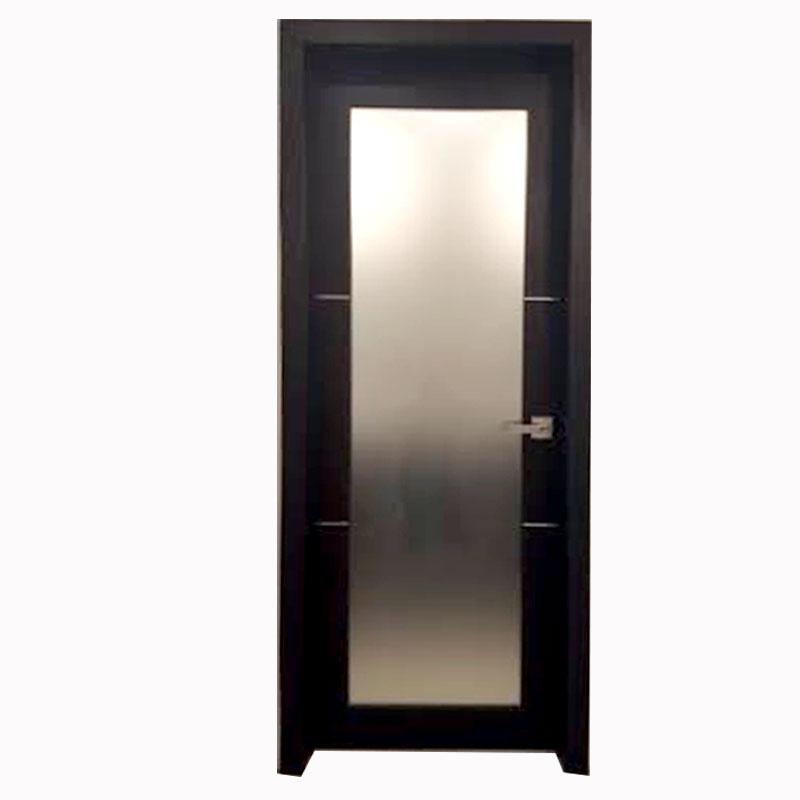 Aries mia ag135 interior door dark wenge finish frosted for 18 inch interior glass door