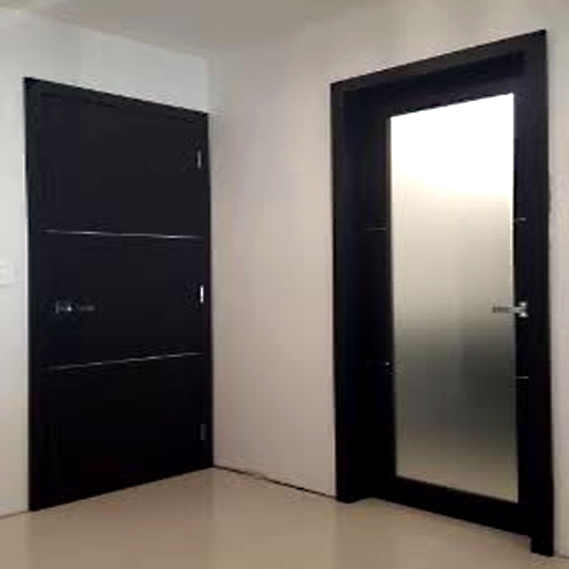 Aries Mia Ag135 Interior Door Dark Wenge Finish Frosted Glass