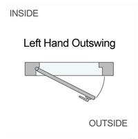 left hand outswing